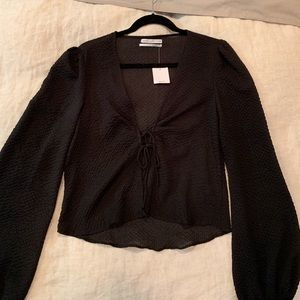 New with tags silk urban outfitters blouse